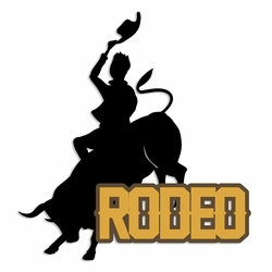 Texas: Rodeo Laser Die Cut