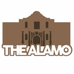 Texas: The Alamo Laser Die Cut