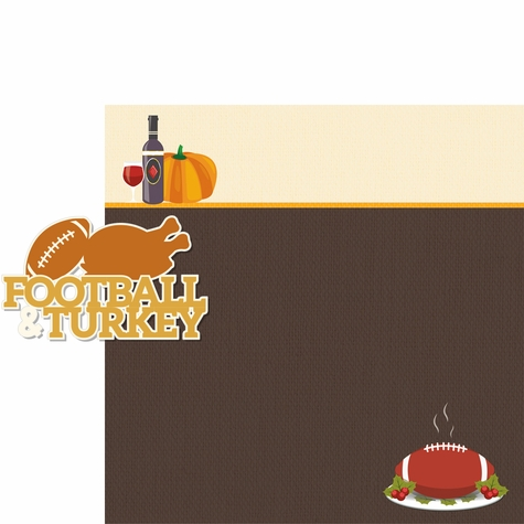 Thanksgiving: Football & Turkey 2 Piece Laser Die Cut Kit