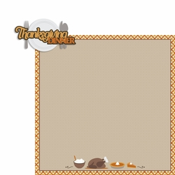 Thanksgiving: Thanksgiving Dinner 2 Piece Laser Die Cut Kit