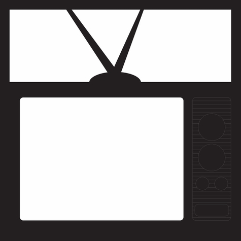 The 50's: Television 12 x 12 Overlay Laser Die Cut