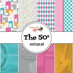The 50s Asssorted 12 x 12 Paper Pack