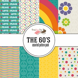 The 60's Assorted 12 x 12 Paper Pack