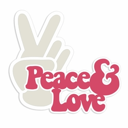 The 60's: Peace and Love Laser Die Cut