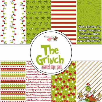 The Grinch Assorted 12 x 12 Paper Pack