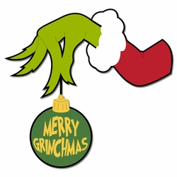 The Grinch: Merry Grinchmas Laser Die Cut