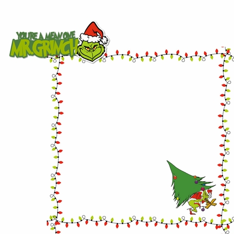 The Grinch: You're A Mean One 2 Piece Print and Cut Kit