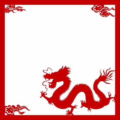 The Orient: Dragon 12 x 12 Overlay Laser Die Cut