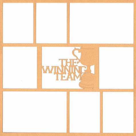 2SYT The Winning Team 12 x 12 Overlay Laser Die Cut