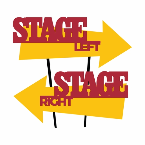 Theater: Exit The Stage Laser Die Cut