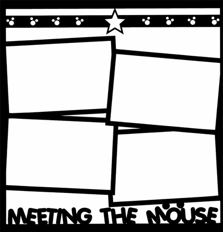 2SYT Theme Park: Meeting The Mouse 12 x 12 Overlay Laser Die Cut