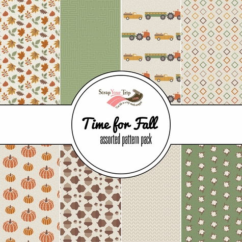 Time for Fall Assorted 12 x 12 Paper Pack
