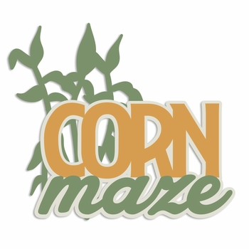 Time for Fall: Corn Maze Laser Die Cut