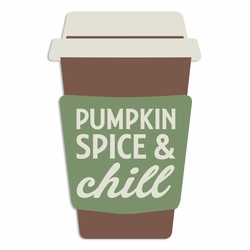 Time for Fall: Pumpkin Spice Laser Die Cut