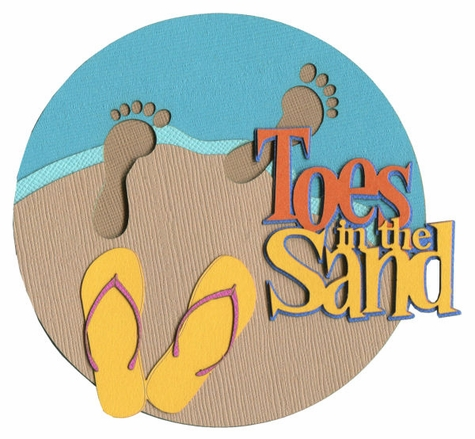 Toes In The Sand Laser Die Cut