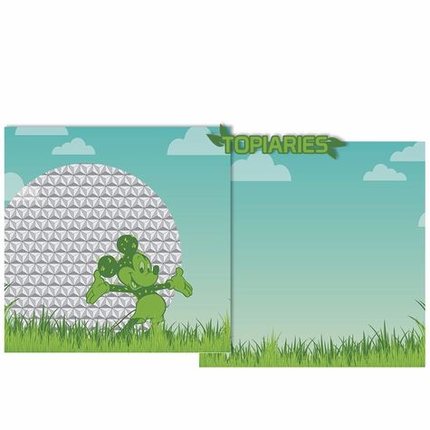 Topiary Double Page Layout Kit