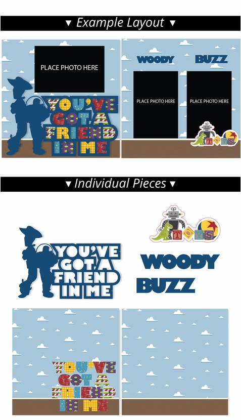 Toy Story 2 Page Print and Cut