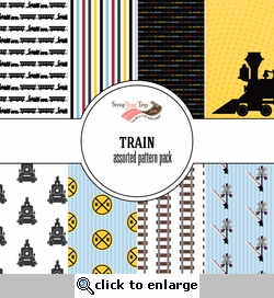 Train Assorted 12 x 12 Paper Pack