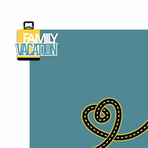 Travel: Family Vacation 2 Piece Laser Die Cut Kit