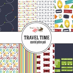 Travel Time 12 x12 Assorted Paper Pack