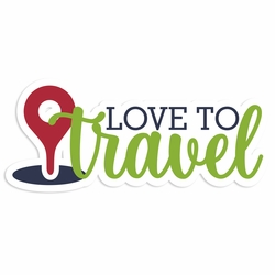 Travel Time: Love to Travel Laser Die Cut