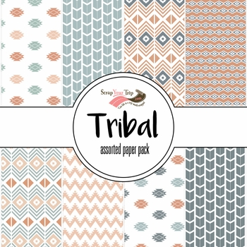 Tribal Assorted 12 x 12 Paper Pack