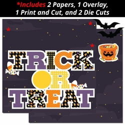 Trick or Treat 2 Page Print and Cut