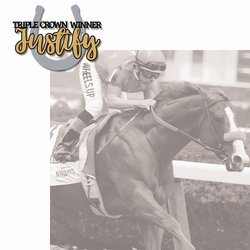 Triple Crown Winner Justify 2 Piece Laser Die Cut Kit