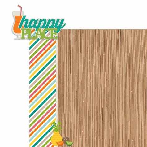 Tropical Delight: Happy Place 2 Piece Laser Die Cut Kit