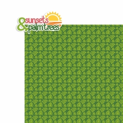 Tropical Vibes: Sunsets and palm trees 2 Piece Laser Die Cut Kit