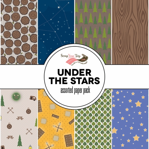 Under The Stars Assorted 12 x 12 Paper Pack