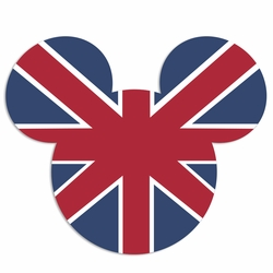 United Kingdom mouse head Laser Die Cut