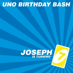 UNO Birthday Custom 12 x 12 Paper