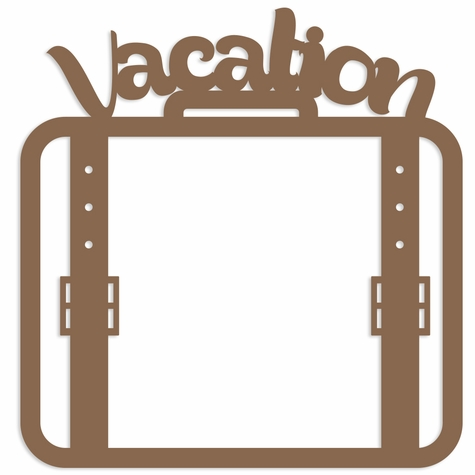 Vacation Luggage Overlay Laser Die Cut