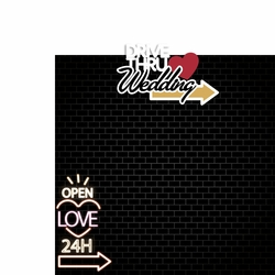 Vegas Wedding: Drive thru Wedding 2 Piece Laser Die Cut Kit