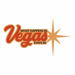 Vegas: What Happens Laser Die Cut