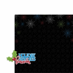 Very Merry: Wishes Fireworks 2 Piece Laser Die Cut Kit