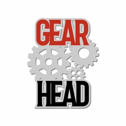 Vintage Cars: Gear Head Laser Die Cut