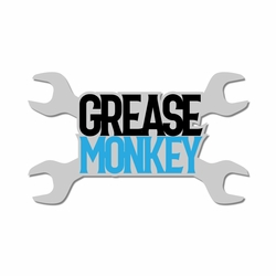 Vintage Cars: Grease Monkey Laser Die Cut