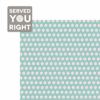Volleyball: Served you Right 2 Piece Laser Die Cut Kit