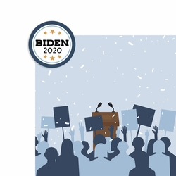 2SYT Vote 2020: Biden 2020 2 Piece Laser Die Cut Kit