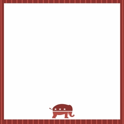 Vote 2020: Republican 12 x 12 Paper