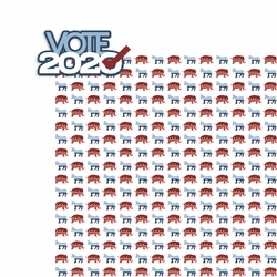 2SYT Vote 2020: Vote 2020 2 Piece Laser Die Cut Kit