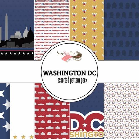 Washington DC Assorted 12 x 12 Paper Pack