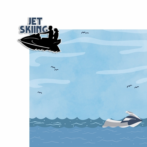 Water Sports: Jet Skiing 2 Piece Laser Die Cut Kit