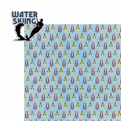 Water Sports: Water Skiing 2 Piece Laser Die Cut Kit