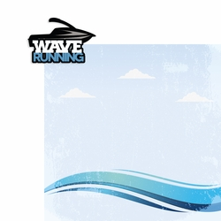 Wave running 2 Piece Laser Die Cut Kit