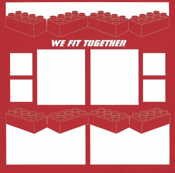 We Fit Together Blocks 12 x 12 Overlay Laser Die Cut