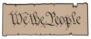 We the People Laser Die Cut