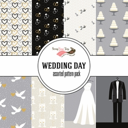 Wedding Day Assorted 12 x 12 Paper Pack